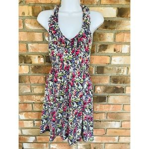 Express Floral Halter Dress    Small